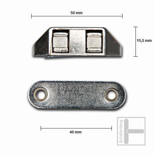 Compact-Schnäpper Nickel Größe 4