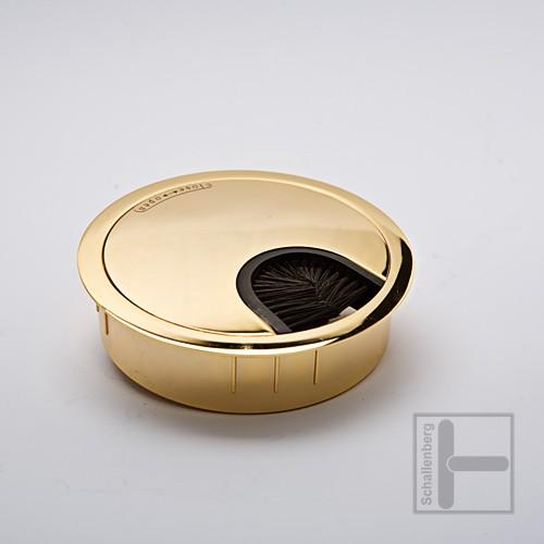 Kabelbuchse 80 mm vergoldet