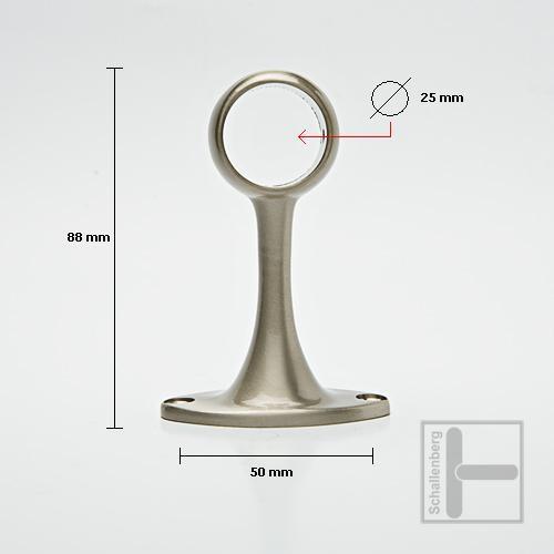 Deckenhalter für Rundrohre 25 mm