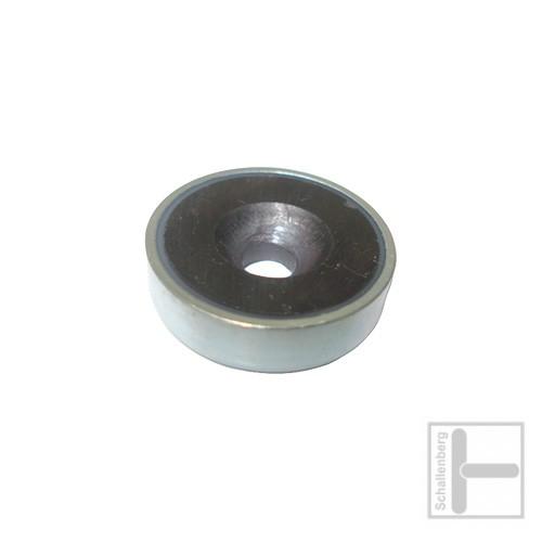 Rundmagnet 32 mm mit Loch