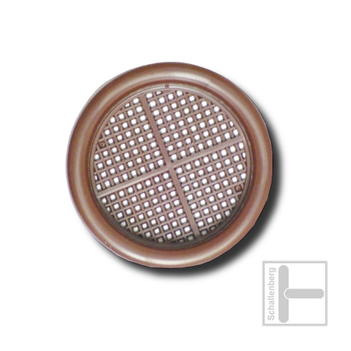 Luftrosette Kunststoff | 028.R04.BR | Braun