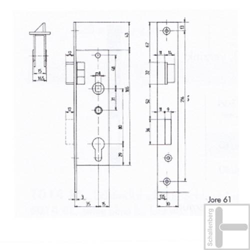Rohrrahmen Einsteckschloss Jore52-5mm