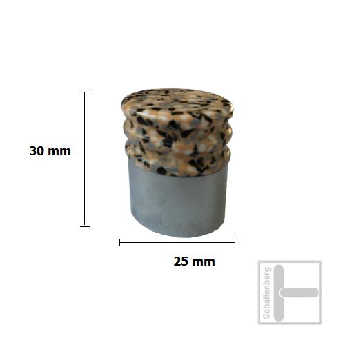 Kunstharz Möbelknopf Zylinder gross 21