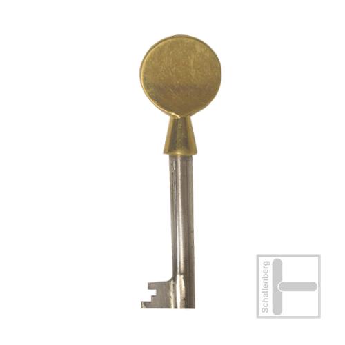 Möbelschlüssel Messing poliert 002.1314