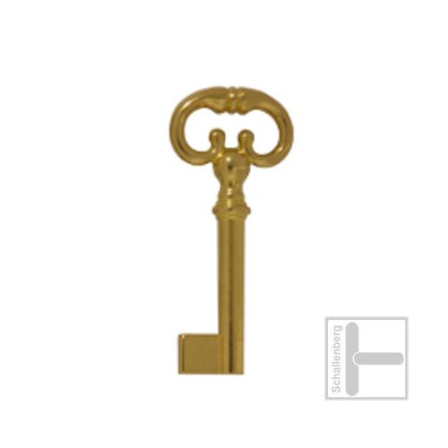 Möbelschlüssel Messing poliert 002.1319