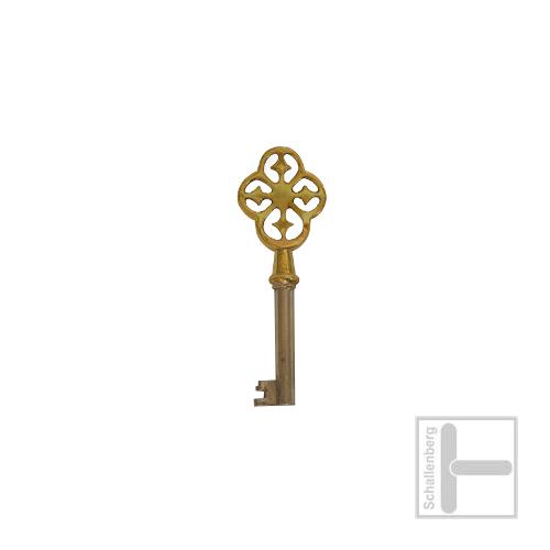 Möbelschlüssel Messing poliert 002.1322