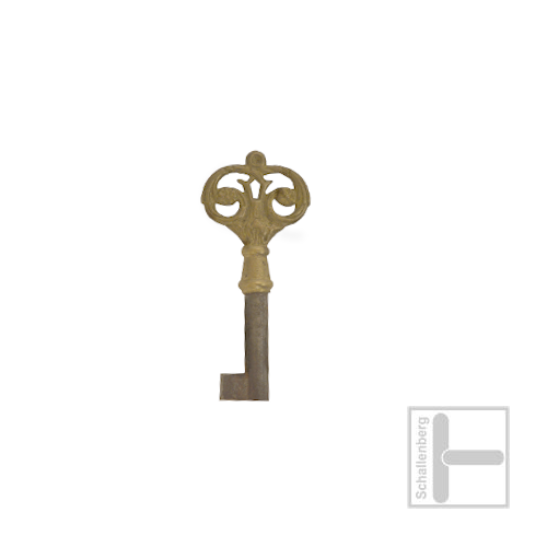Möbelschlüssel Messing poliert 002.1324