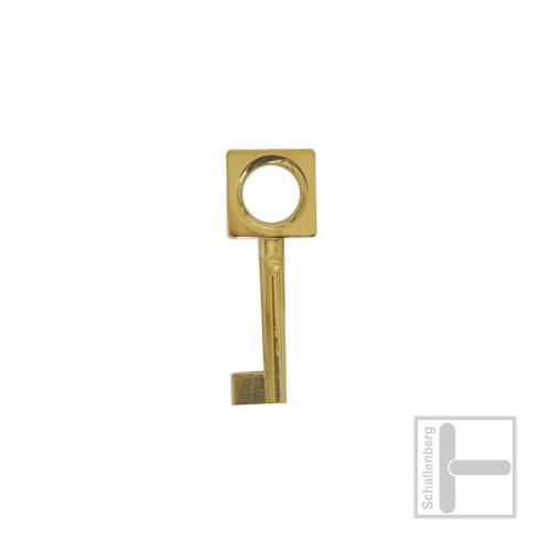 Möbelschlüssel Messing poliert 002.1328