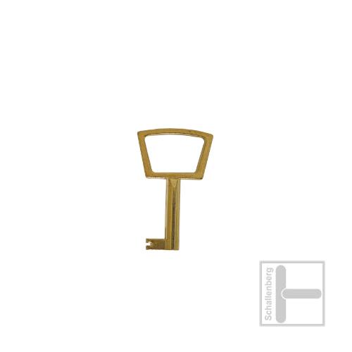 Möbelschlüssel Messing poliert 002.1329