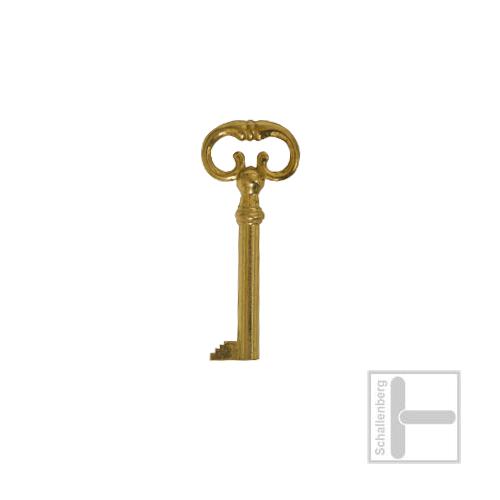Möbelschlüssel Messing poliert 002.1332