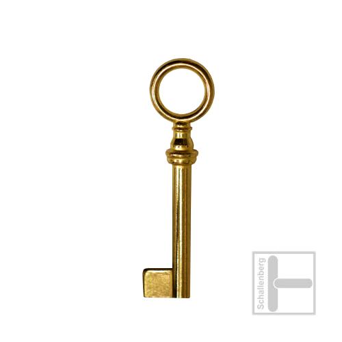 Möbelschlüssel Messing poliert 002.1334