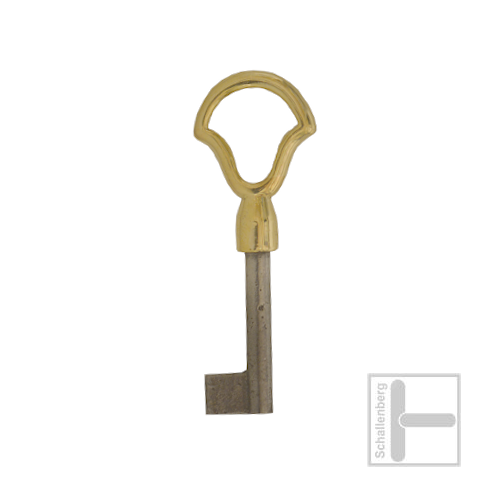 Möbelschlüssel Messing poliert 002.1345