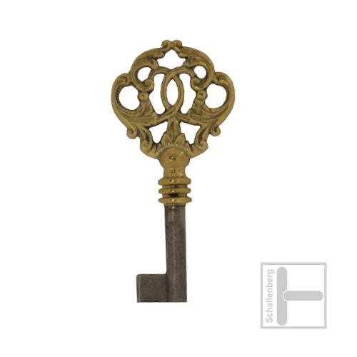 Möbelschlüssel Messing poliert 002.1347