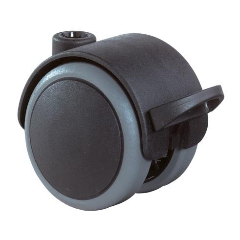Kunststoff-Doppelrolle mit Feststeller F8604008