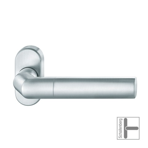 Verkröpfter Rahmentürdrücker FSB 06 1078 Aluminium