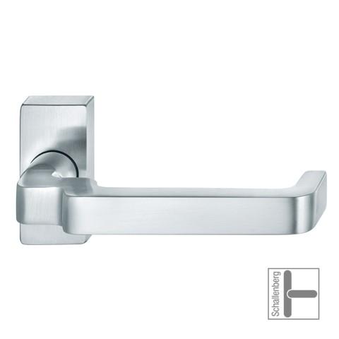 Verkröpfter Rahmentürdrücker FSB 06 1134 Aluminium