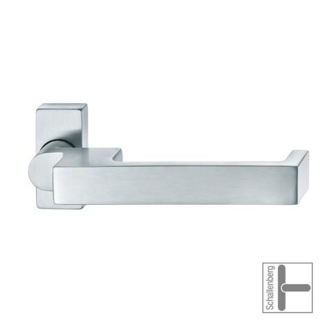 Verkröpfter FH- Rahmentürdrücker FSB 06 0644 Aluminium