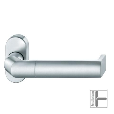 Verkröpfter FH- Rahmentürdrücker FSB 06 1088 Aluminium