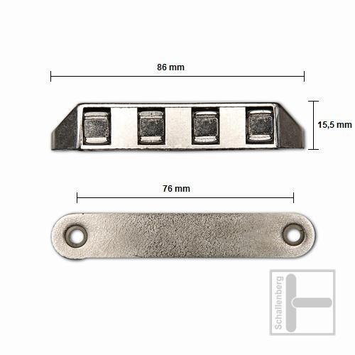 Compact-Schnäpper Nickel Größe 8
