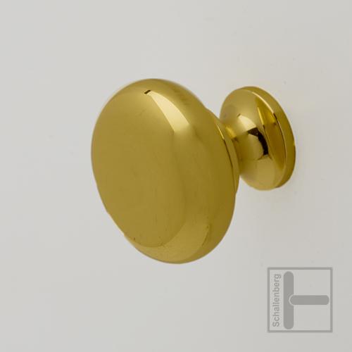Türknopf  Metall   Messing poliert  31mm Möbelknopf
