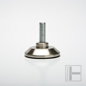 Stellfuß Edelstahl-Optik 50 mm