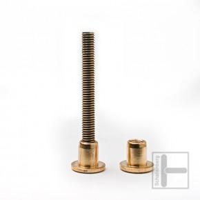 Teakholz-Möbelverbinder SET - 6 mm 55 mm