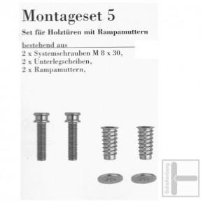 Stoßgriff Edelstahl 072.97 Einseitige Verschraubung für Holz / 210 mm