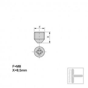 Madenschraube M8 für 18 mm