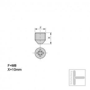 Madenschraube M8 für 22 mm