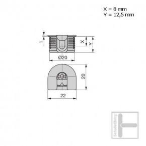 Exzenter-Verbinder klein 20 mm