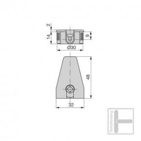 Exzenter-Verbinder 30 mm