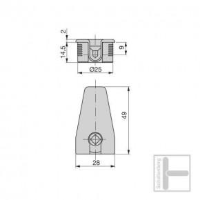 Exzenter-Verbinder 20 mm