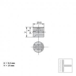Bolzenschnecke Ø 15 mm